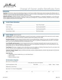 John Hancock Annuities Change Of Owner And Or Beneficiary Form